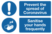 Prevent The Spread of Coronavirus Safety Sign
