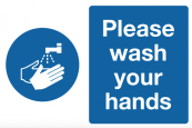 Please wash your hands safety signage
