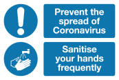 Sanitise your hands Coronavirus signage