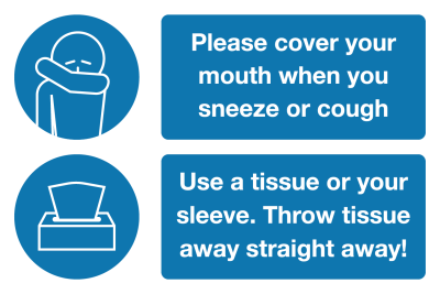 Please cover your mouth Coronavirus safety sign