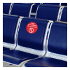 Social Distancing Seat Stickers