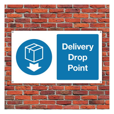 delivery zone sign