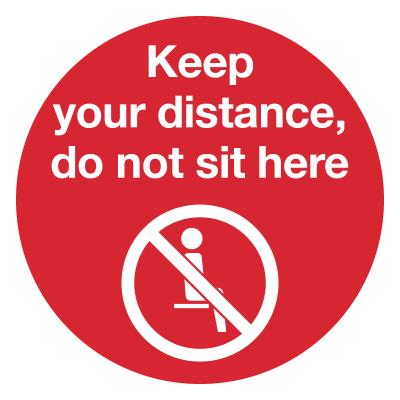 Social Distancing Seat Sticker Artwork
