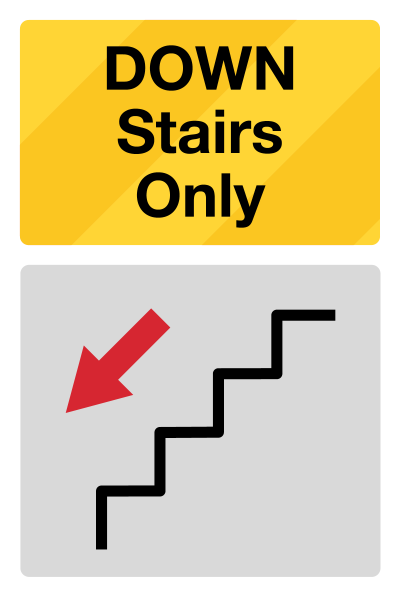 Stairs Direction Social Distancing Sign