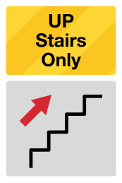 Social Distancing Stairs Sign Up