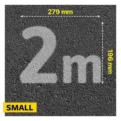 Social Distancing 2m Stencil Size