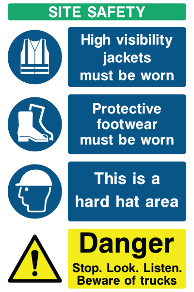 Site Safety Generic Portrait Sign B