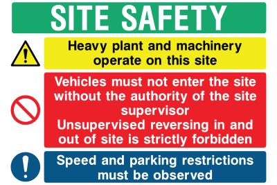 Site Safety Heavy Plant Sign