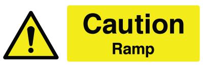 Caution Ramp Sign