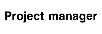 Project Manager Sign