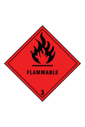 Dlammable 3 Sign