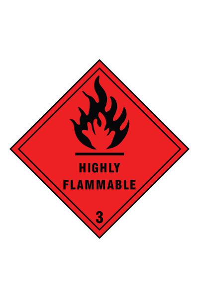 Highly Flammable 3 Sign