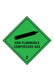 Non Flammable Compressed Gas 2 Sign