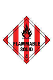 Flammable Solid 4 Sign