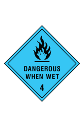 Dangerous When Wet 4 Sign