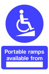 Portable Ramps Avaliable From ... Sign