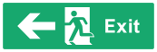 Exit Sign - Arrow Left - Wide