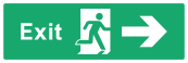 Exit Sign - Arrow Right - Wide