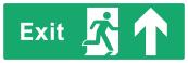 Exit Sign - Arrow Up - Wide