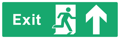 Exit Sign - Arrow Up - Wide