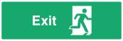Exit Door Sign - Right - Wide