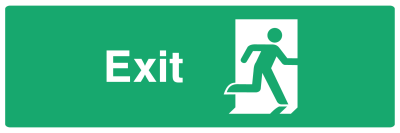 Exit Door Sign - Right - Wide