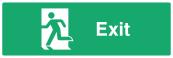 Exit Door Sign - Left - Wide