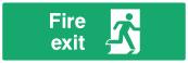 Fire Exit Door Sign - Right - Wide