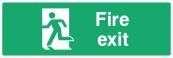Fire Exit Door Sign - Left - Wide