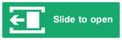 Slide To Open Sign - Left - Wide