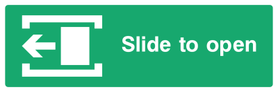 Slide To Open Sign - Left - Wide