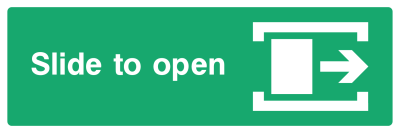 Slide To Open Sign - Right - Wide