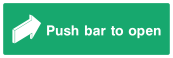 Push Bar To Open Sign - Arrow - Wide