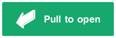 Pull To Open Sign - Wide