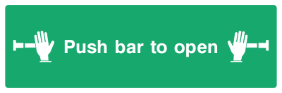 Push Bar To Open Sign - Wide