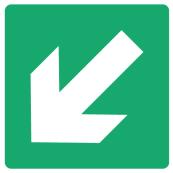 Emergency Escape Sign - Arrow Bottom Left