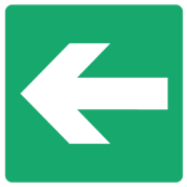 Emergency Escape Sign - Arrow Left
