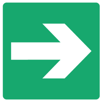 Emergency Escape Sign - Arrow Right