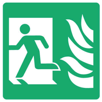 Fire Exit Left Sign - Square