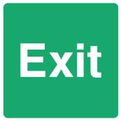 Emergency Escape Sign - Square
