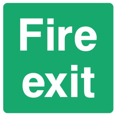 Fire Exit Sign - Square