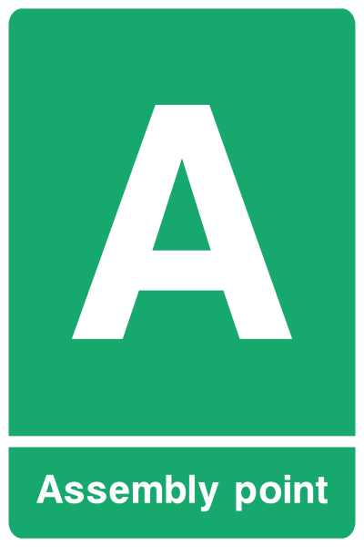 Assembly Point A Sign