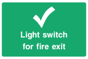 Light Switch For Fire Exit Sign