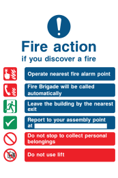 Fire Action If You Discover The Fire Operate Nearest Fire Alarm Instruction Fire Brigade Will Be Called Automatically Do Not Use Lift Sign
