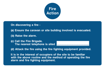 Fire Action On Discovering A Fire Instruction Sign