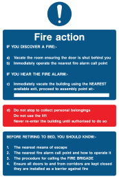 Fire Action If You Discover A Fire If You Hear The Fire Alarm Do Not Stop Before Retiring To Bed You Should Know Sign