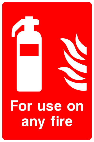 For Use On Any Fire Sign