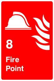 8 Fire Point Sign