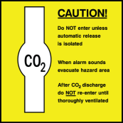 Caution CO2 Do Not Enter Unless Automatic Release Is Isolated Sign