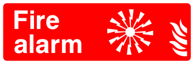 Fire Alarm Sign - Wide